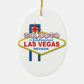 Las Vegas Retro Sign Ceramic Ornament