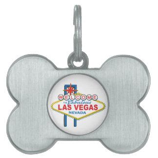 Las Vegas Retro Sign Pet Name Tag