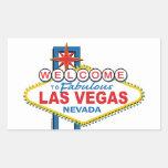 Las Vegas Retro Sign Rectangular Sticker