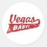 Las Vegas Round Stickers