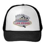 Las Vegas Royal Flush Cap with set of dice Trucker Hat
