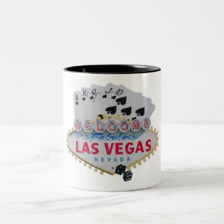 Las Vegas Royal Flush Poker  Player Two Tone Mug