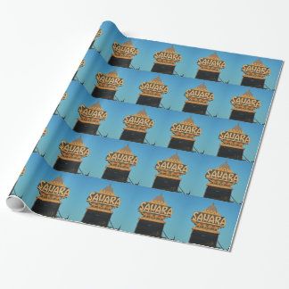 Las Vegas Sahara Casino Landmark Architecture Wrapping Paper