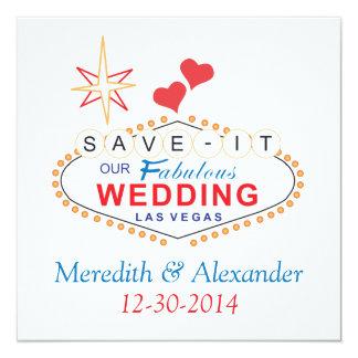 Las Vegas Save the Date Wedding Cards