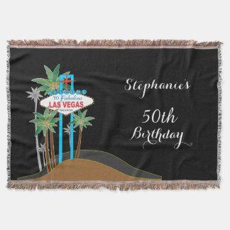 Las Vegas Scene Birthday Throw