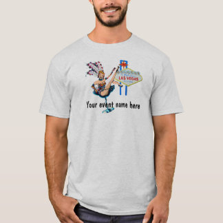 Las Vegas Showgirl Custom Event T-Shirt