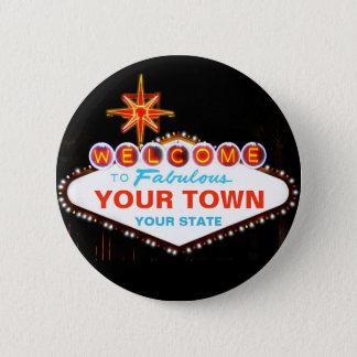Las Vegas Sign 2 Inch Round Button