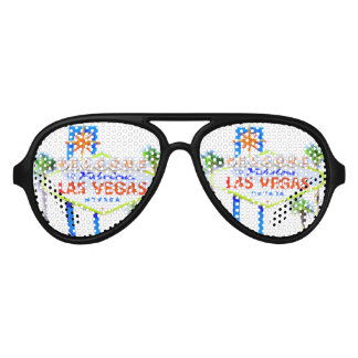 Las Vegas Sign Aviator Sunglasses