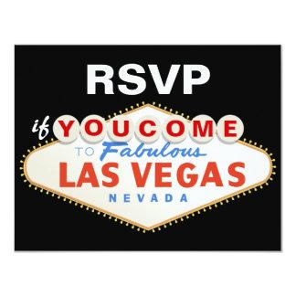Las Vegas sign destination wedding RSVP card