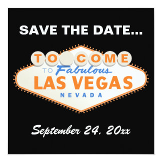 Las Vegas sign destination wedding Save the Date Card