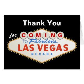 Las Vegas sign destination wedding Thank You Card