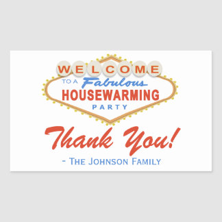 Las Vegas Sign Housewarming Party Favor Stickers