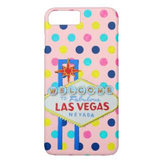 Las Vegas Sign on Pink Dots iPhone 8 Plus/7 Plus Case