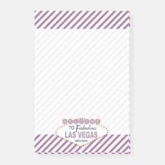 Las Vegas Sign Purple Stripes Post-it Notes