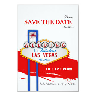 Las Vegas Sign Save the Date Announcement