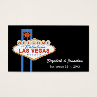 Las Vegas Sign Wedding Website Cards