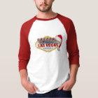 Las Vegas Sign with Santa Cap 3/4 Sleeve Raglan T-Shirt
