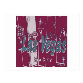 Las Vegas Sin City Postcard