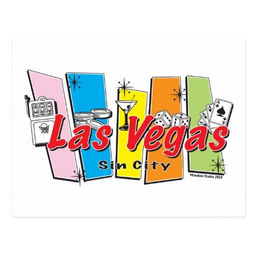 Las Vegas Sin City Postcards