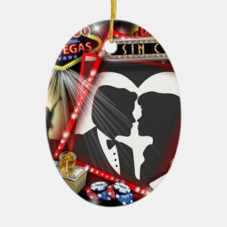 Las Vegas Sin City wedding Design Ceramic Ornament