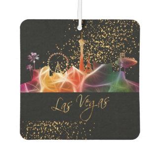 Las Vegas Skyline in Psychedelic Colors Car Air Freshener