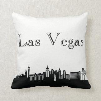 Las Vegas Skyline Silhouette Front/ Xray Back Throw Pillow