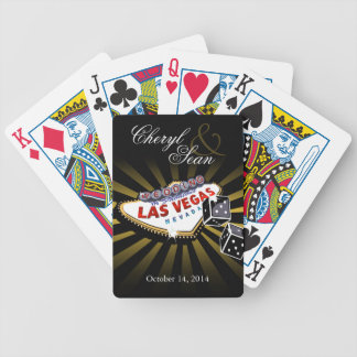 Las Vegas Starburst Wedding black & gold Bicycle Playing Cards