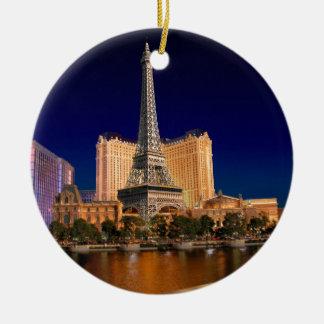 Las Vegas strip 5 Round Ceramic Ornament