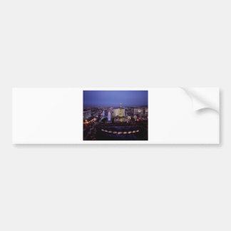 Las Vegas Strip Aerial View Casino Gambling City Bumper Sticker