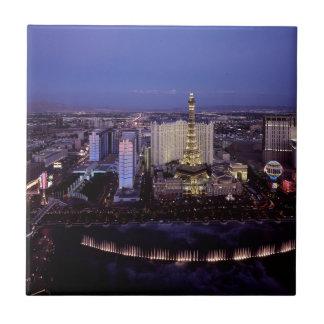 Las Vegas Strip Aerial View Casino Gambling City Tile