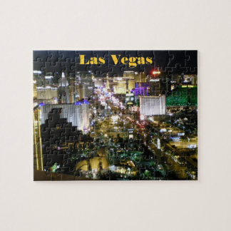 Las Vegas Strip Aerial View Night Jigsaw Puzzle