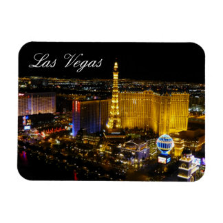 Las Vegas Strip, Aerial View, Night Lights Magnet
