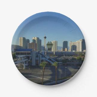 Las Vegas Strip Ahead Paper Plate
