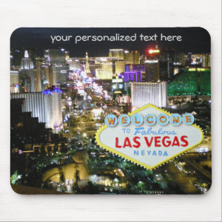 Las Vegas  Strip and Welcome Sign Mouse Pad