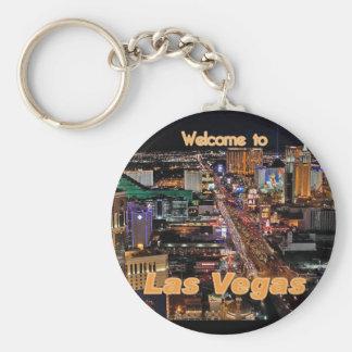 Las Vegas Strip at Night Keychain