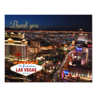 Las Vegas Strip Blue Thank You Cards