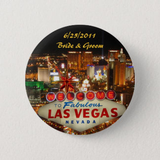 Las Vegas Strip Bride & Groom Button