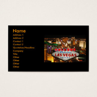 Las Vegas Strip Business Cards