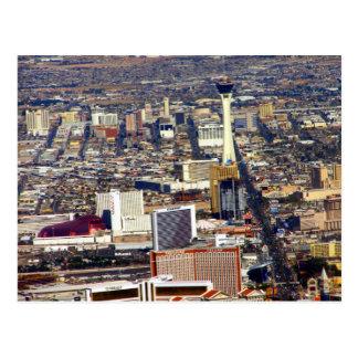 Las Vegas Strip & Downtown Aerial Picture Postcard