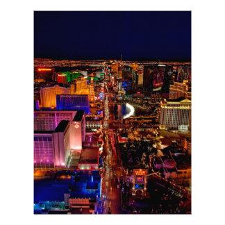 Las Vegas Strip Night Vacation Letterhead