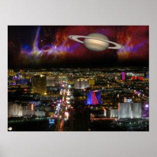 Las Vegas Strip Science Fiction Poster Print #1
