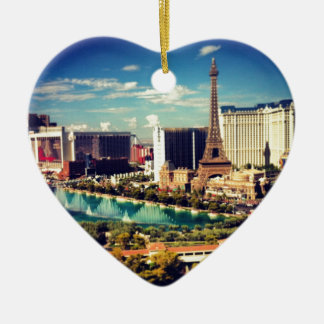 Las Vegas Strip View Ceramic Ornament