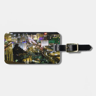 Las Vegas Strip View Night & Day Bag Tag