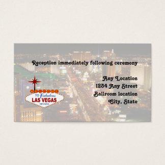 Las Vegas Strip  Wedding Reception Card