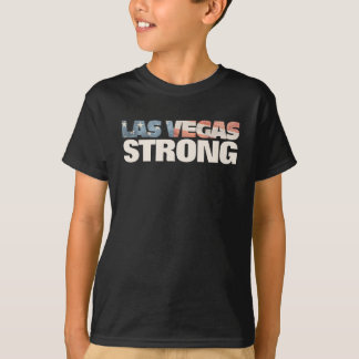 Las Vegas Strong Faded Vintage Look American Flag T-Shirt