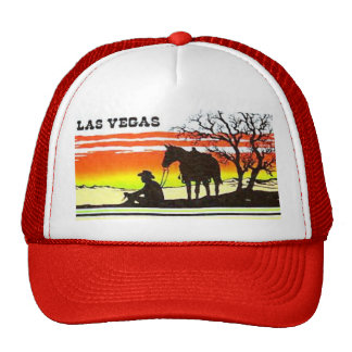 Las Vegas Sunset Cowboy Trucker Hat