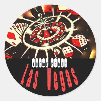 Las Vegas Theme party Classic Round Sticker
