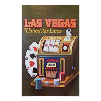 Las Vegas (United Air Lines) Poster