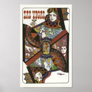 Las Vegas Vintage Travel Poster