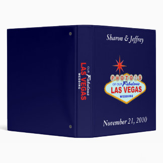 Las Vegas Wedding Album 2 3 Ring Binders